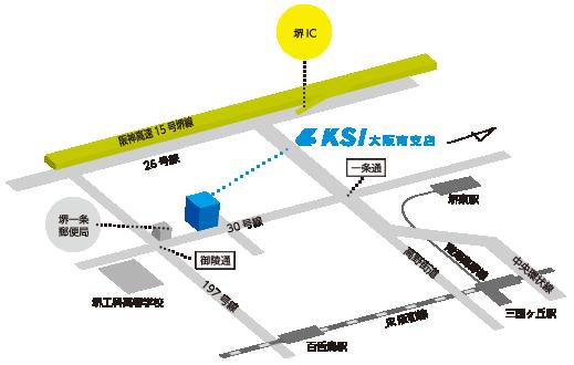 大阪南支店地図